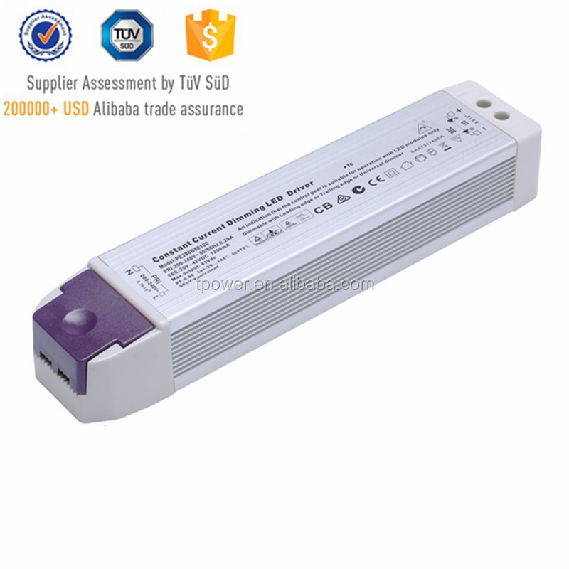 high efficiency 12v 24v high efficiency TUV CE SAA UL Triac dimmable constant voltage/current 30W 45w indoor led driver for LED