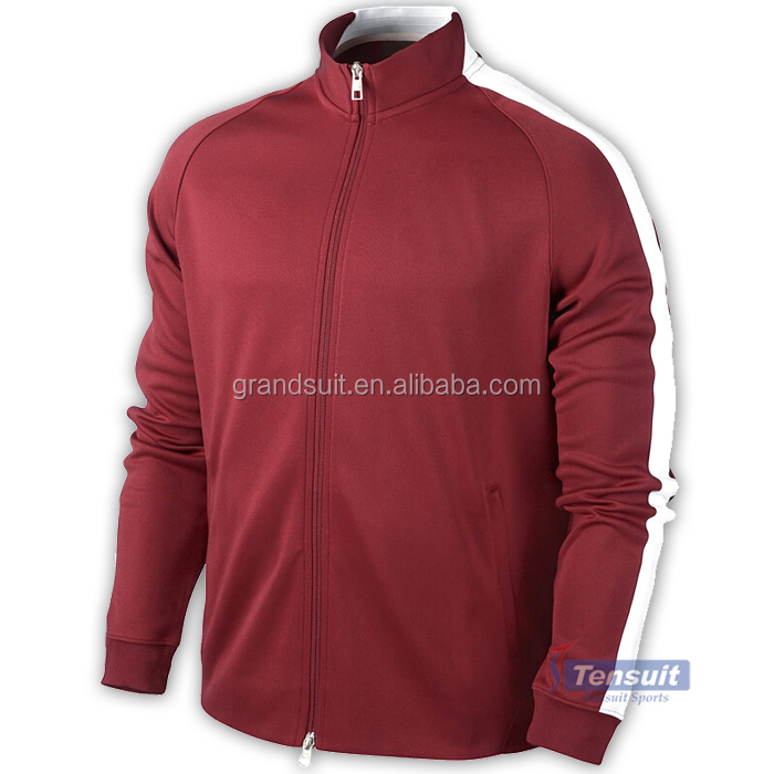 New season red soccer jacket men top thailand quality football traning sports jacket