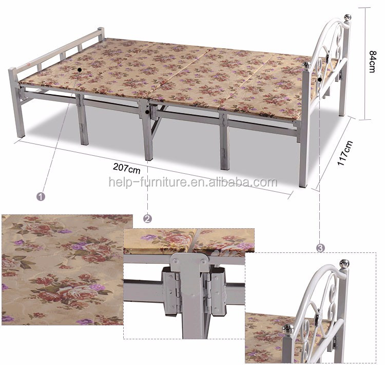 Foldable cool single beds for sale