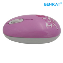 Promotional cute 3d optical ergonomic design mini gift mouse with new water transfer print