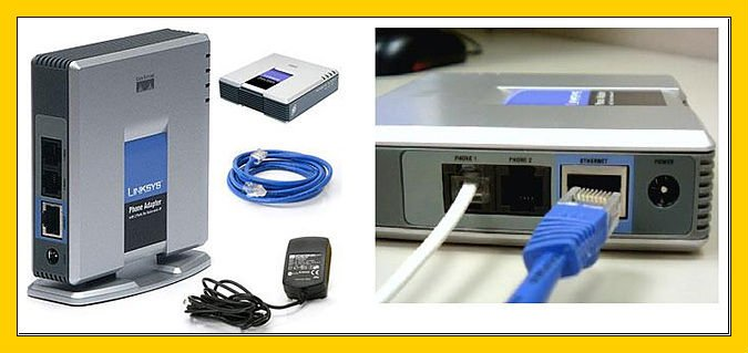 2-Port VoIP Phone Adapter VoIP Gateway Internet 2 Port Analog Telephone Adapter VoIP Phone /& Device with SIP RJ45 Cable for Linksys PAP2T US