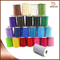 Wholesale manufacture European standard 1mm korea wax cord jewelry making cord