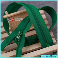 #5 Factory wholesale Reverse Nylon zipper with DALH slider