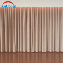 Top quality polyester motorized sunscreen restaurant curtains