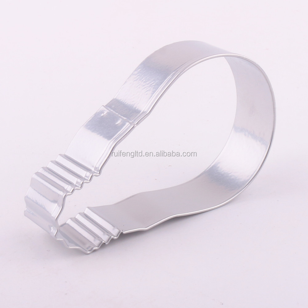 Custom stainless steel light bulb shapes cookie cutters Factory cookie cutter embossed cookie cutters making machine
