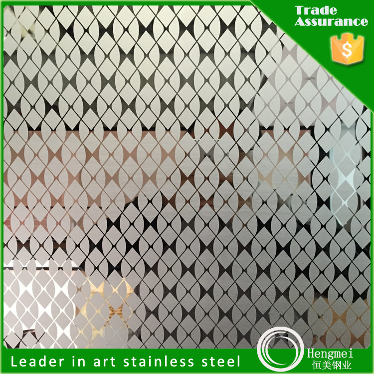 2015 China News Style 430 Foshan Etching Stainless Steel Sheet for 3D Wall Covering