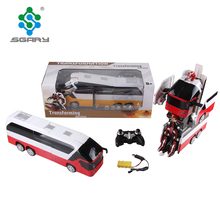 Hot selling deformation REMOTE CONTROL Robot bus