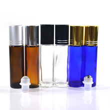 essential oil 8ml 10ml blue clear amber roll on glass bottle manufacturer