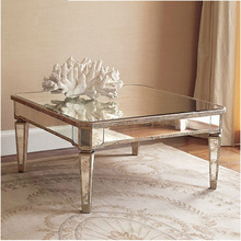 Guanding factory Modern Hotsale home interior design decorative mirrored coffee table