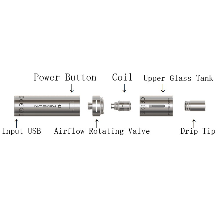 KIMREE STL WOLF rechargeable vape pen, best electronic cigarette manufacturer factory