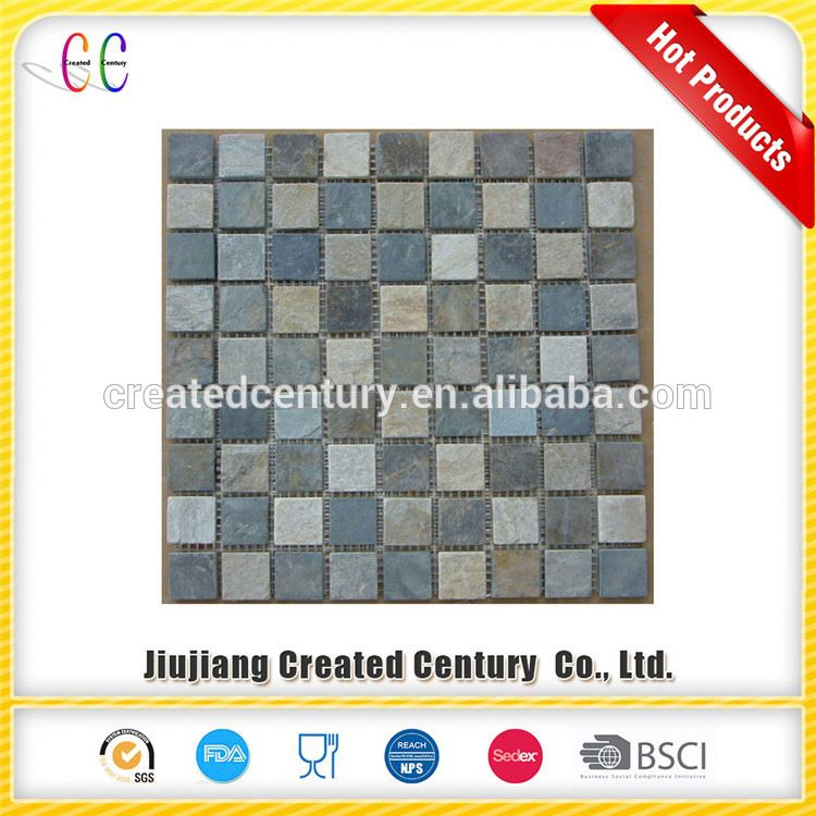 new arrival 30x30cm stone mosaic tiles irregular natural stone slate mosaic