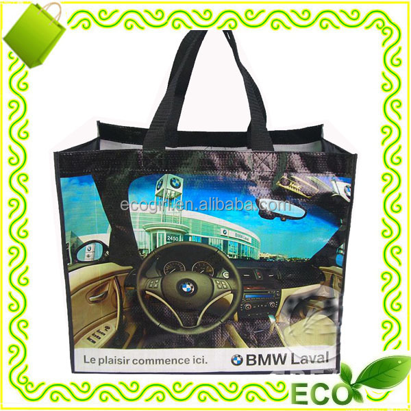 hot sale reusable promotion eco shopping grocery tote beach take away easy carry pp woven zipper bag
