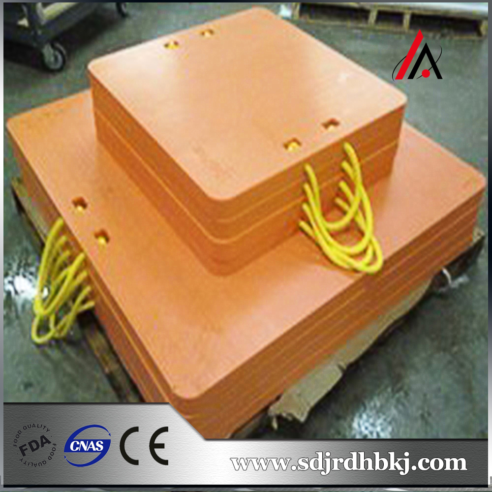 thermoplastic impact resistant sanitary outrigger pad