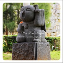Outdoor Large Granite Stone Lucky Cat Statue