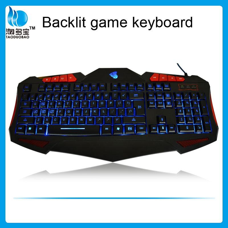 Latest computer keyboard backlit big letter game keyboard for Backlit keyboard large letters