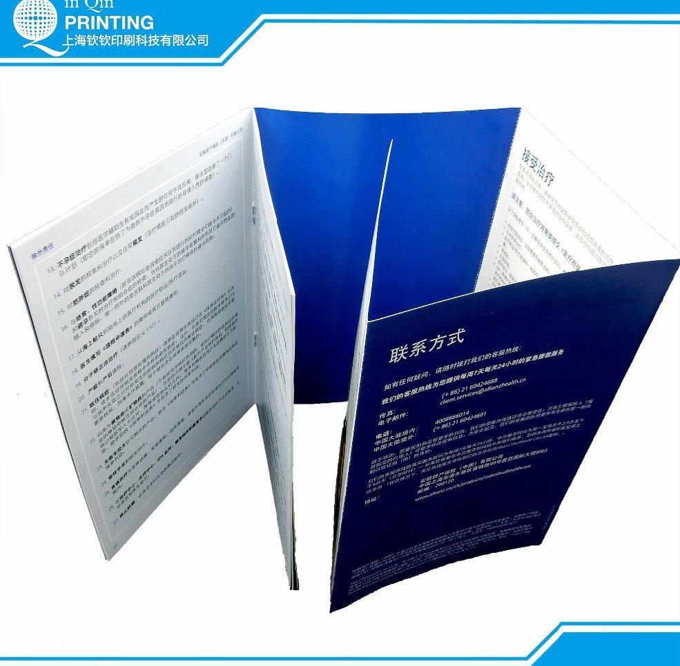 Advertising low cost stapled paper printing booklets