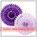 Purple and Lavender Tissue Paper Rosettes Hanging Fan Wedding Decoration