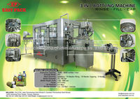 AUTOMATIC BOTTLE RINSER-FILLER-CAPPER MACHINE