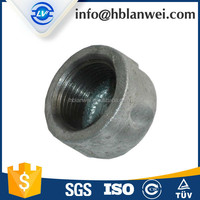 SAU market M.I. cap fittings Good quality Cap Banded Malleable Iron Pipe Fittings