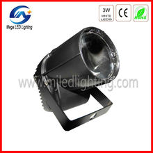 white color 3w led mini pin spot light
