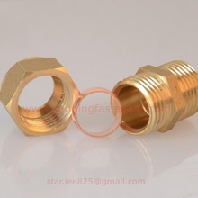 Wholesale Brass compression pex pipe fittings, brass hydraulic hose fittings