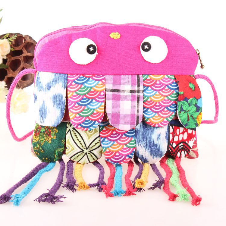 Funny Pink Owl Kids Library Bags