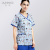ANNO Cute Prints Mock Wrap Scrub Top Scrubs Wholesale