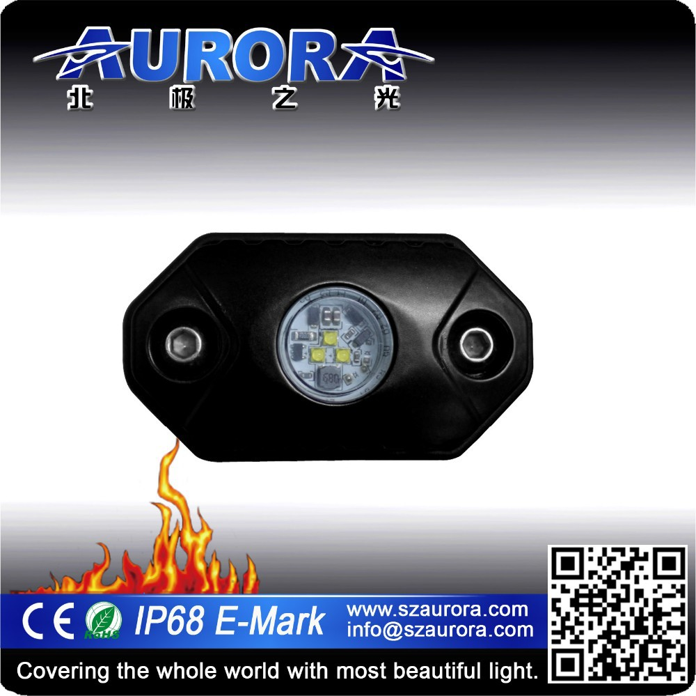 "Colorful AURORA 2"" 9W interior dome 4x4 led light"