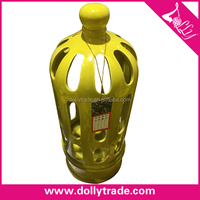 Home Decration Yellow Ceramic Candle Holder Craft