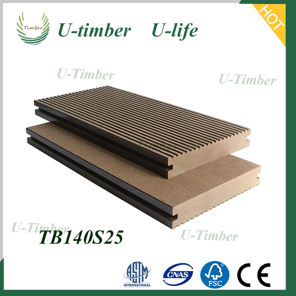 Anti Slip Wpc Solid Decking Wood Plastic Composite Outdoor