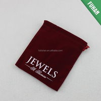 Excellent quality gift suede bags with logo printing