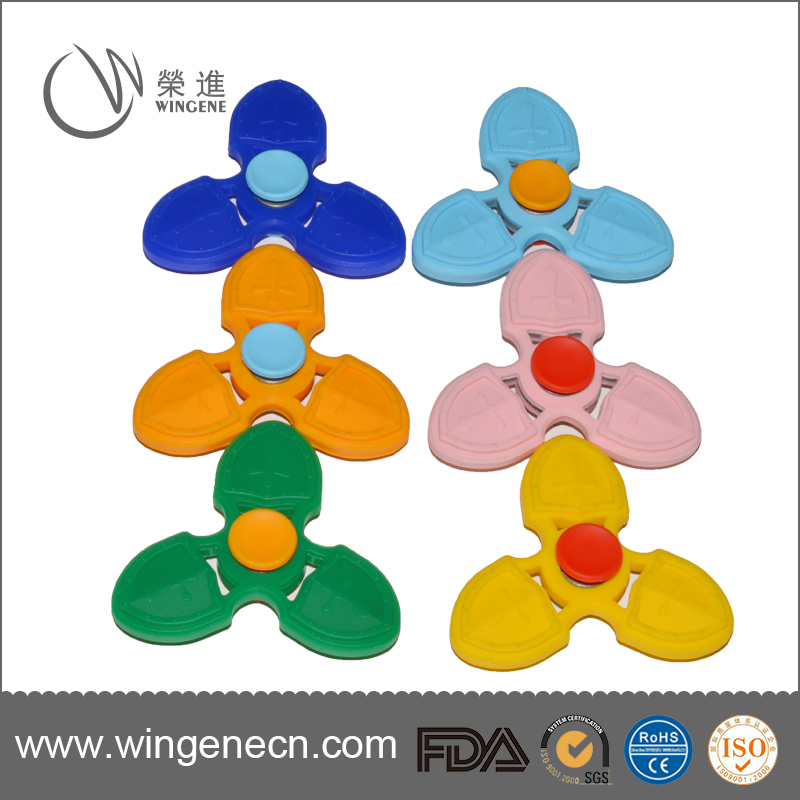 New Arrival Relieve Stress Fidget hand Spinner Toys Silicone Finger Gyro with colorful