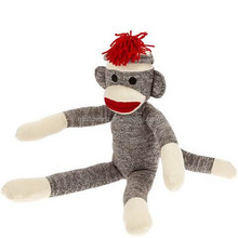 factory direct sock monkey,custom plush toys
