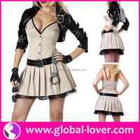 2016 best quality police dance halloween cosplay costume