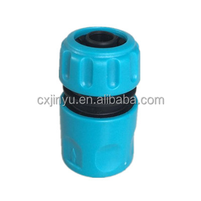 Plastic swivel water hose connector