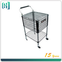 metal black Square Tennis ball cart used in outdoor sport play grounds used golf cart