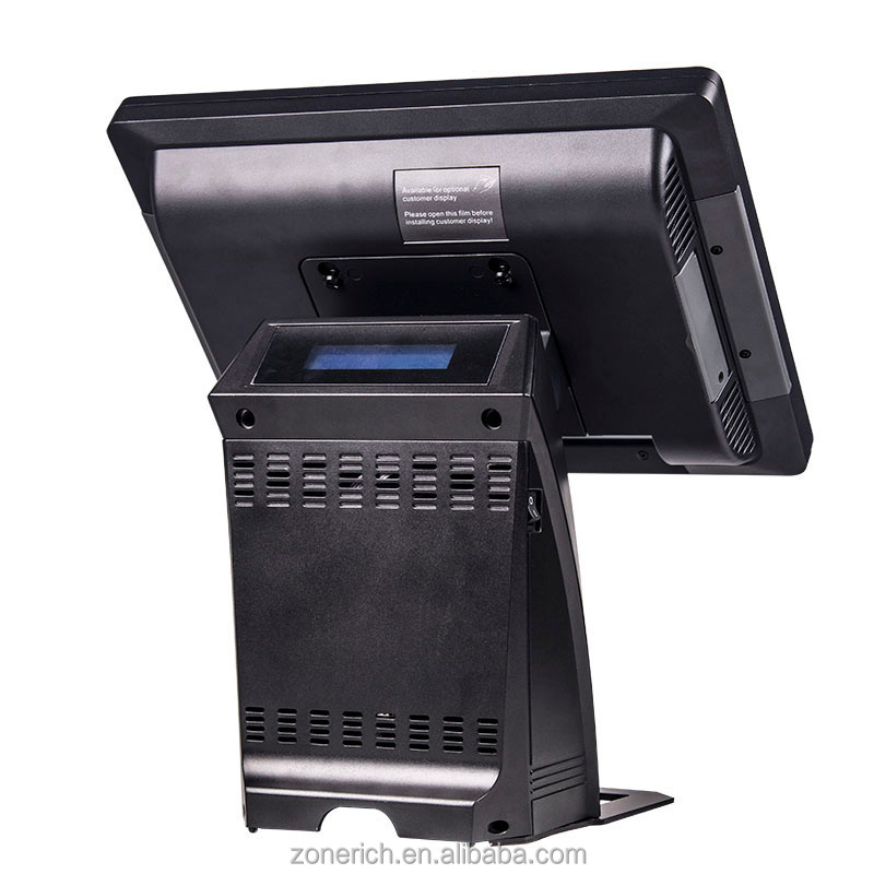 "aluminum housing 15"" touch screen POS system terminal for retail store ZQ-P1088 max from Zonerich"
