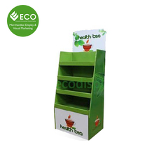 POP Retail Store Supplies for Tea Display Rack, Corrugated Cardboard Display