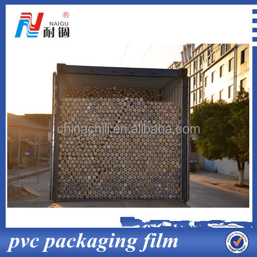 transparent roll film for pvc packaging