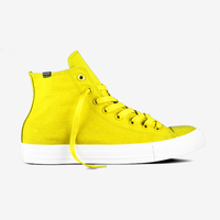 Bright Yellow Casual Canvas High Top Shoes Women