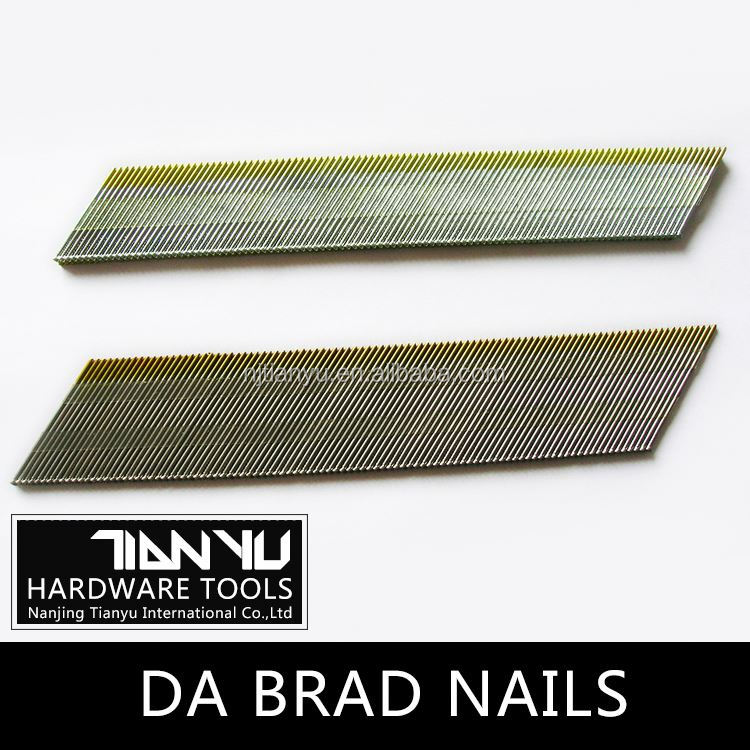 High quality Galvanized DA brad nails brass finishing nails