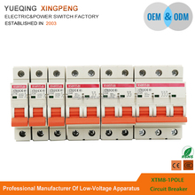 Factory wholesales new type XTM-8 2 phase mcb 1P 2P 3P 4P 16amp breaker