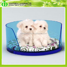 DDT-D004 ISO9001 Chinese Factory Made SGS Test Fashionable Round Plastic Dog Bed With Cushion