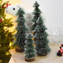2018 the most popular mini table decorative christmas tree with snow