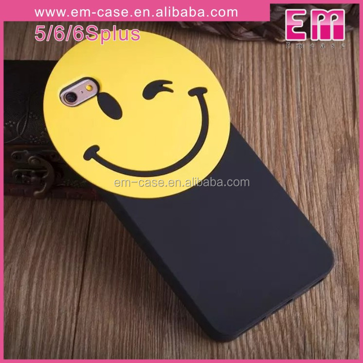 For BigBang GD Style Smile Pattern Phone Case Cute Anime Eyes Lips Emoji Silicone Phone Shell For iPhone5 6 6plus