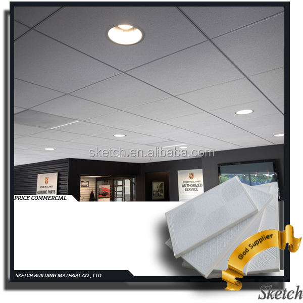 595x595x7 PVC Laminated Stick-on Gypsum Ceiling Tiles
