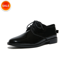 Patent leather Chunky low heel Black Sexy Fashion women girls job shoes