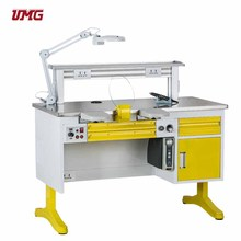 Yellow 1.2m single dental workstation/lab tables work benches