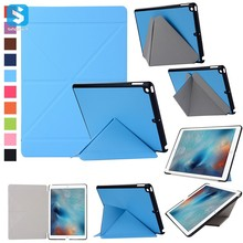 High Quality Multifunctional Transformer PU Leather Cover Case for iPad 9.7 2017