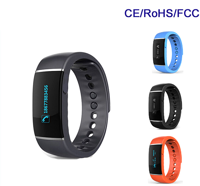 Help care Smart watch Wireless BT 4.0 Fitness Tracker Health Wristband Smart Watch with flexible touch screen S55